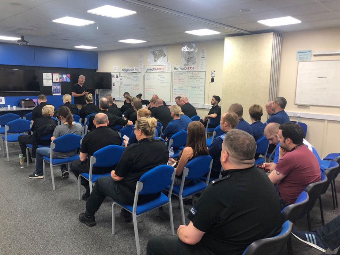 Warrington Police Mindfulness Session